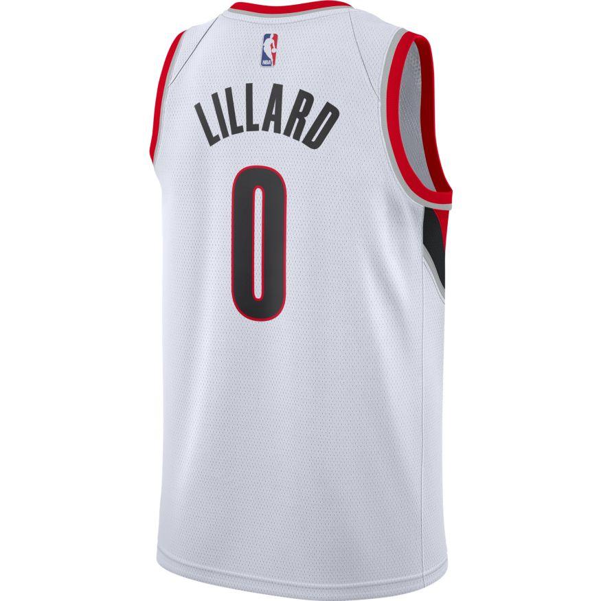 Asian Wearing Portland Blazer Jersey: Damian Lillard Icon Edition Swingman Jersey Portland Trail